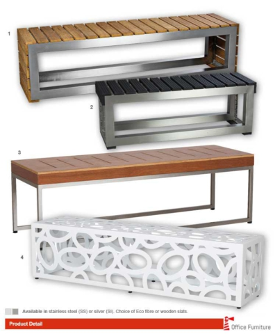Office Benches Wood Steel Nucleus