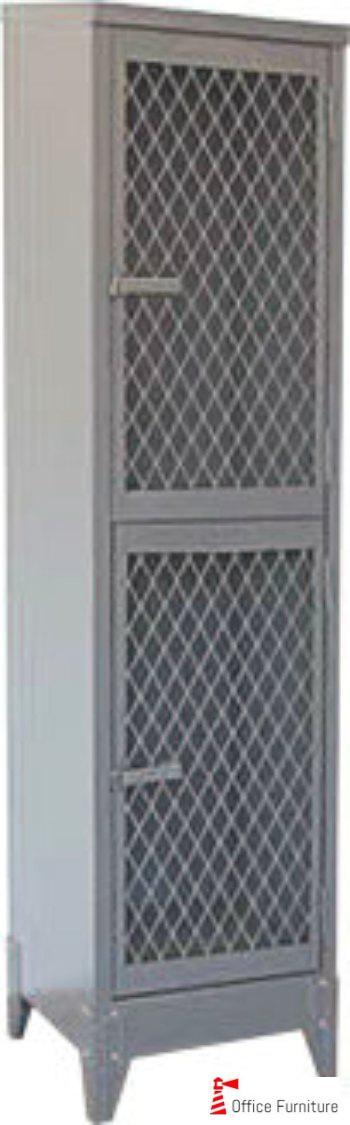 2Tier Lockers Mesh Doors