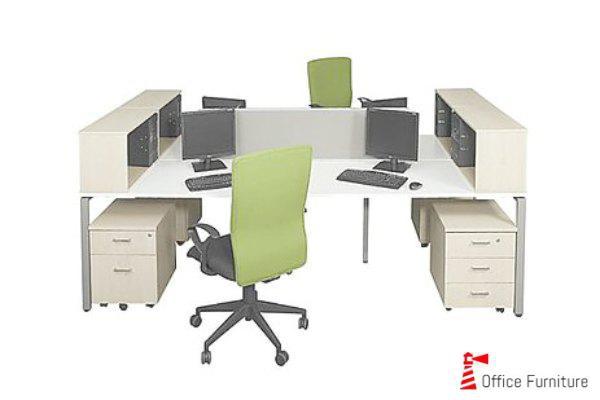 Steel Desk Cluster Multi Storage