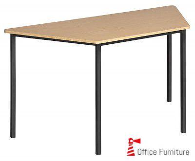 Steel 1400 Table Econo Trapezoidal Oak Top