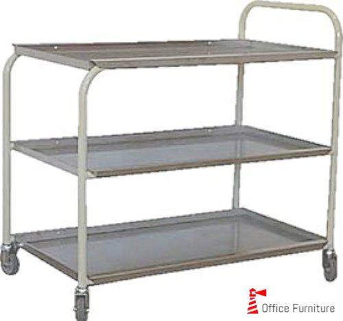Steel 3Tier Tea Trolley Castors