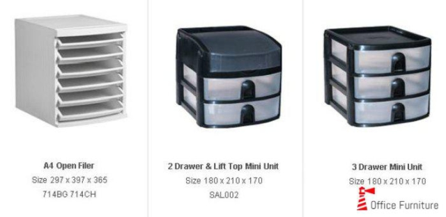 OFFICE Buddi Storage Units Plastic