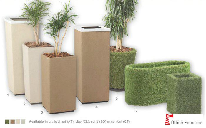 Office Pots Planters Eco Fibre
