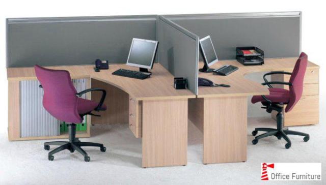 Custom made Cluster Desk Screen 2 Way