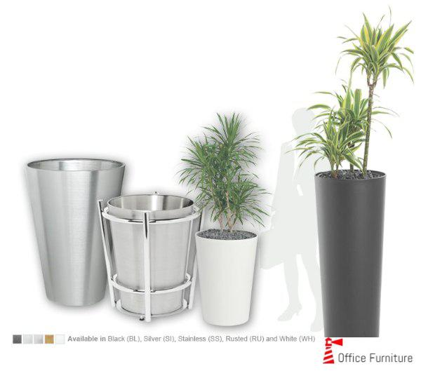Office Pot Stainless Steel Planters