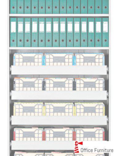 Bulk filing a4 containers shelf