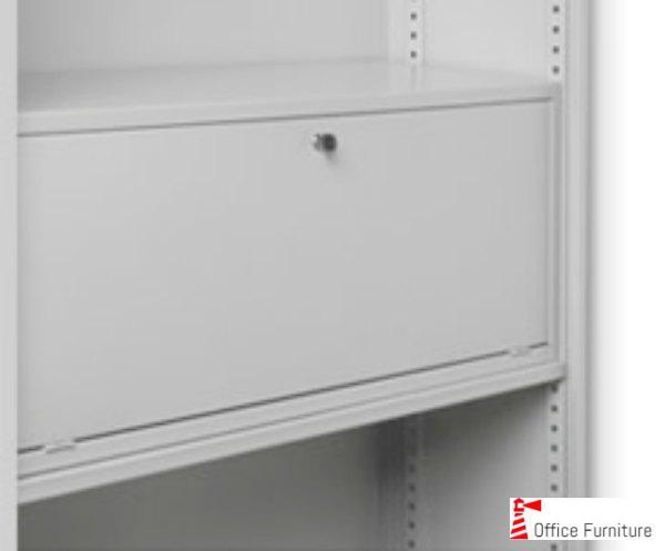 Bulk filing lockable shelf door
