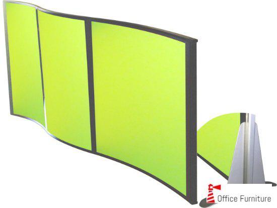 Custom made Perspex Floor Screen Curved
