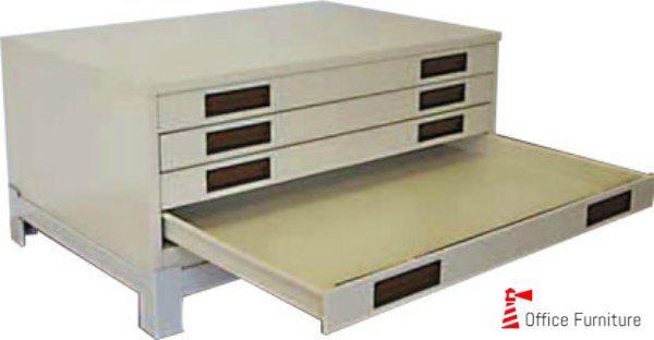 A0 Horizontal 4Drawer Plan Filing Cabinet