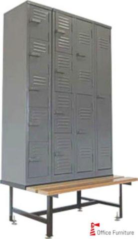 Steel Lockers on Locker Stand